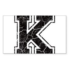 Letter K in black vintage look Decal
