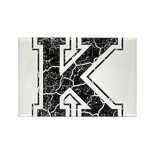 Letter K in black vintage look Rectangle Magnet