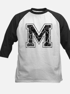 Letter M in black vintage look Kids Baseball Jerse