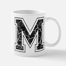 Letter M in black vintage look Mug