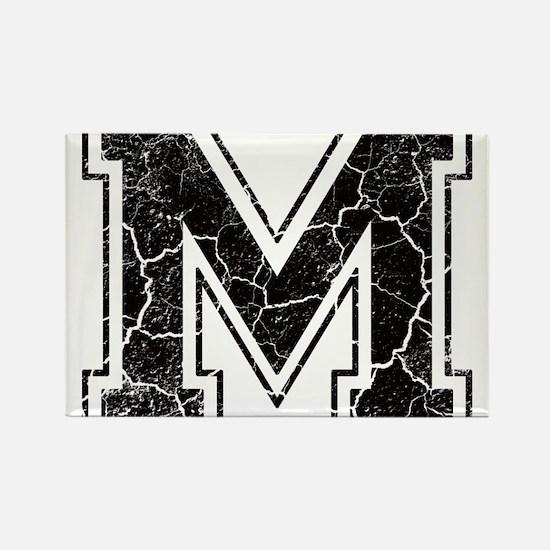 Letter M in black vintage look Rectangle Magnet