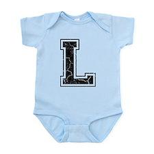 Letter L in black vintage look Infant Bodysuit