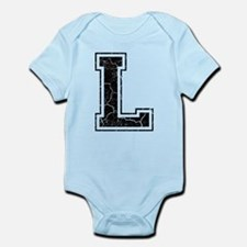 Letter L in black vintage look Infant Bodysuit