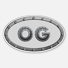 OG Metal Sticker (Oval)