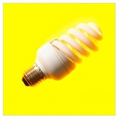Energy-saving light bulb Poster