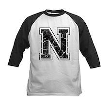 Letter N in black vintage look Tee