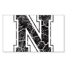 Letter N in black vintage look Decal