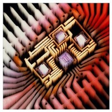 Enhanced macrophoto of a hybrid integrated circuit Poster