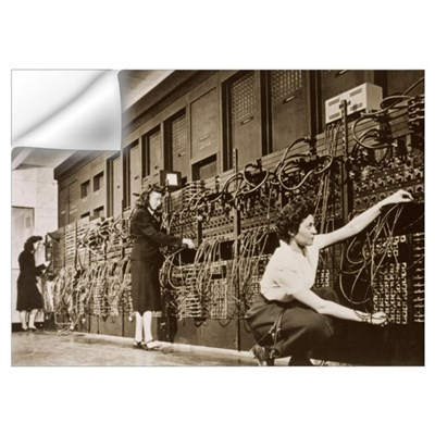 ENIAC, the second electronic calculator Wall Decal