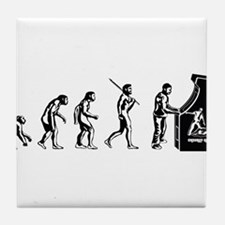 Video Game Evolution Tile Coaster