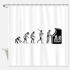 Video Game Evolution Shower Curtain