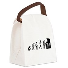Video Game Evolution Canvas Lunch Bag