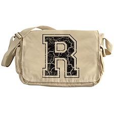 Letter R in black vintage look Messenger Bag