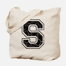 Letter S in black vintage look Tote Bag