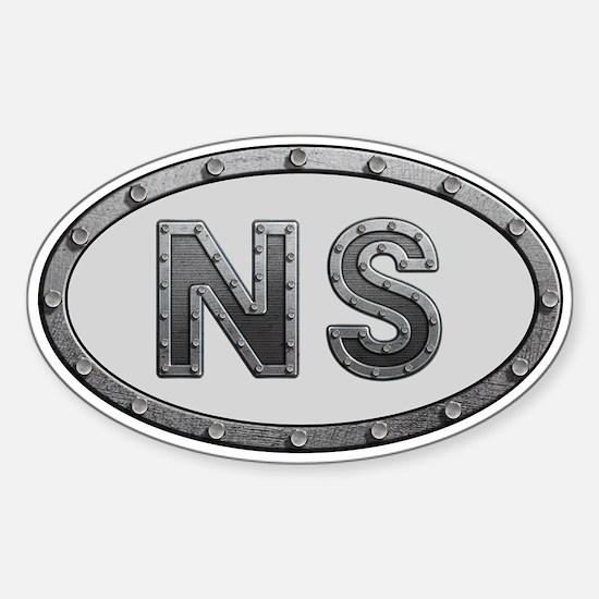 NS Metal Sticker (Oval)