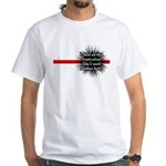 Banded Frustration White T-Shirt