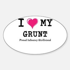 I Heart My Grunt Decal