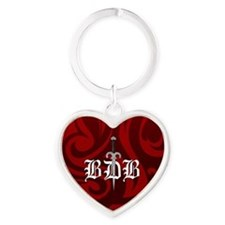 BDB Red Logo Heart Keychain