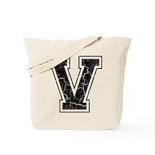 Letter V in black vintage look Tote Bag