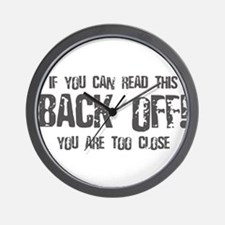 If you can read this back off! Wall Clock