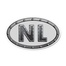 NL Metal Oval Car Magnet