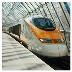 Eurostar Channel Tunnel train Poster