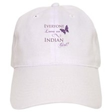 Indian Girl Baseball Cap