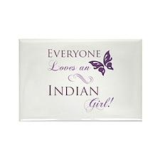 Indian Girl Rectangle Magnet (10 pack)