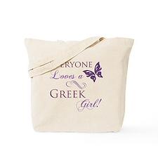 Greek Girl Tote Bag