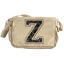 Letter Z in black vintage look Messenger Bag