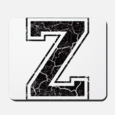 Letter Z in black vintage look Mousepad
