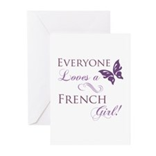 French Girl Greeting Cards (Pk of 20)
