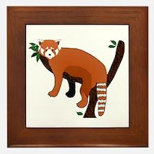 Red Panda Framed Tile