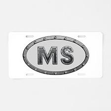MS Metal Aluminum License Plate