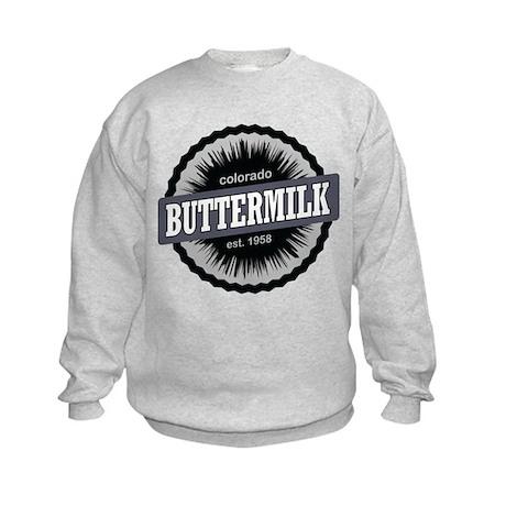 Buttermilk Ski Resort Colorado Black Kids Sweatshi