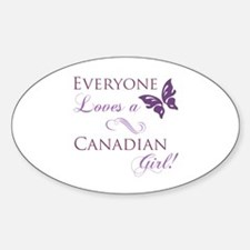 Canadian Girl Decal