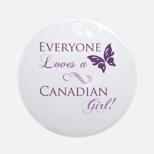 Canadian Girl Ornament (Round)