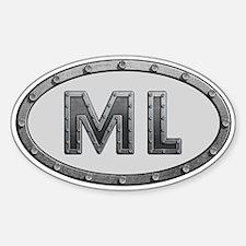 ML Metal Sticker (Oval)