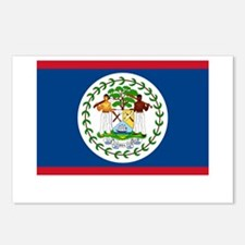 Belize Flag Picture Postcards (Package of 8)
