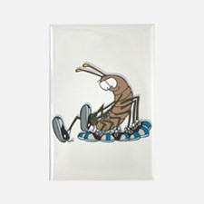 Funny Centipede with Shoes Rectangle Magnet