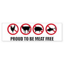 meat_free_white_apparel.png Bumper Sticker