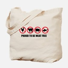 meat_free_white_apparel.png Tote Bag