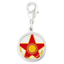 Kazakhstan ADF roundel Silver Round Charm