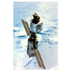 First 2 modules of the International Space Station Poster
