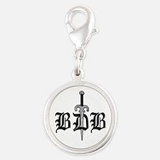Bdb Dagger Logo Silver Round Charm Charms