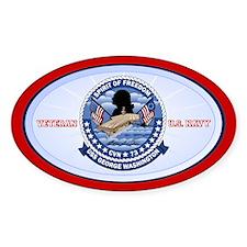 Navy Veteran CVN-73 Sticker (Oval)