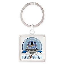 Navy Veteran CVN-73 Square Keychain