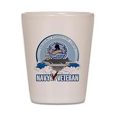 Navy Veteran CVN-73 Shot Glass