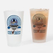 Navy Veteran CVN-73 Drinking Glass