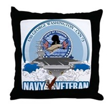 Navy Veteran CVN-73 Throw Pillow